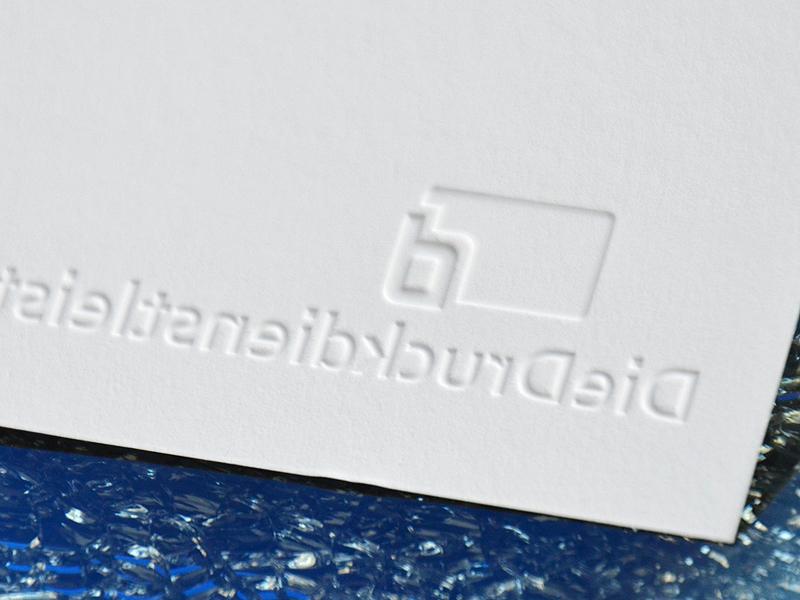 Günstig Edle Visitenkarte Mit Blindprägung Drucken