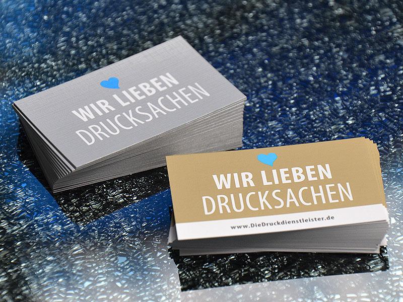 Günstig Klappvisitenkarten Mit Metallicfarbe Drucken