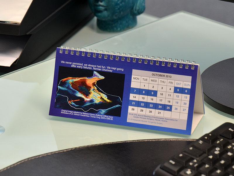 Mehrseitige Tischkalender