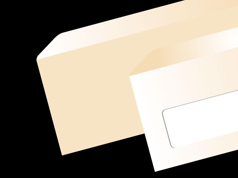 Umschlag Naturpapier creme haftklebend