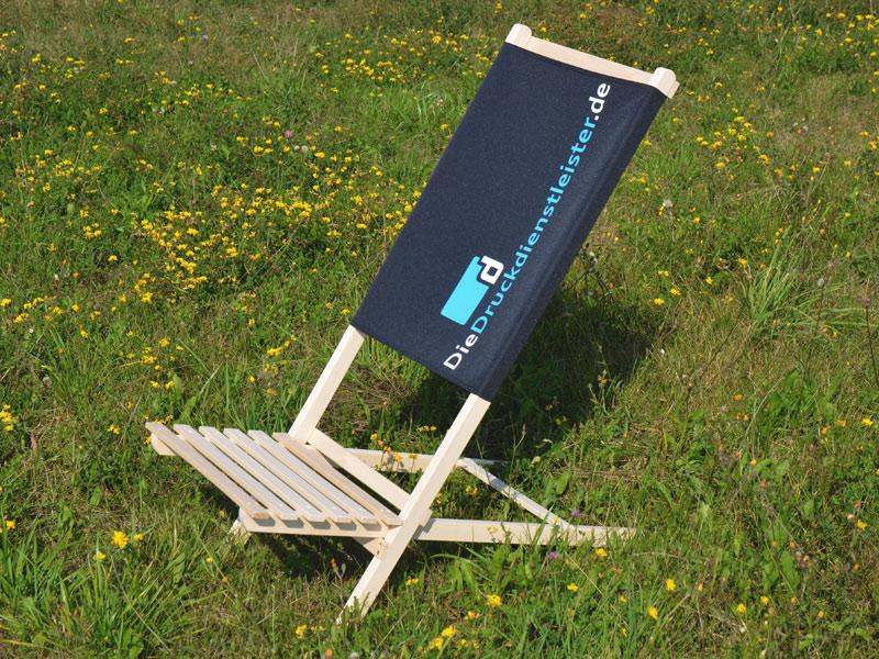 Strandstuhl mit Motivdruck