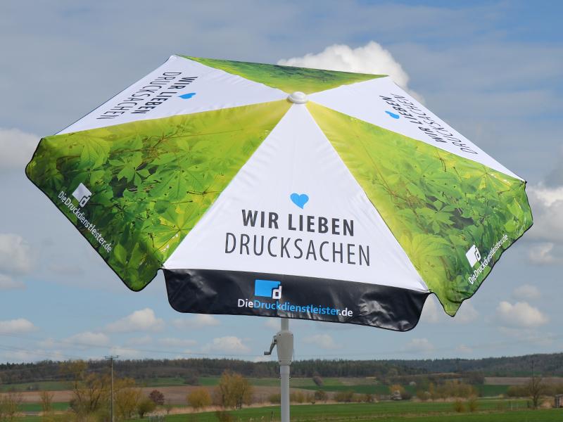 Sonnenschirm 6-teilig regendicht mit Kurbel