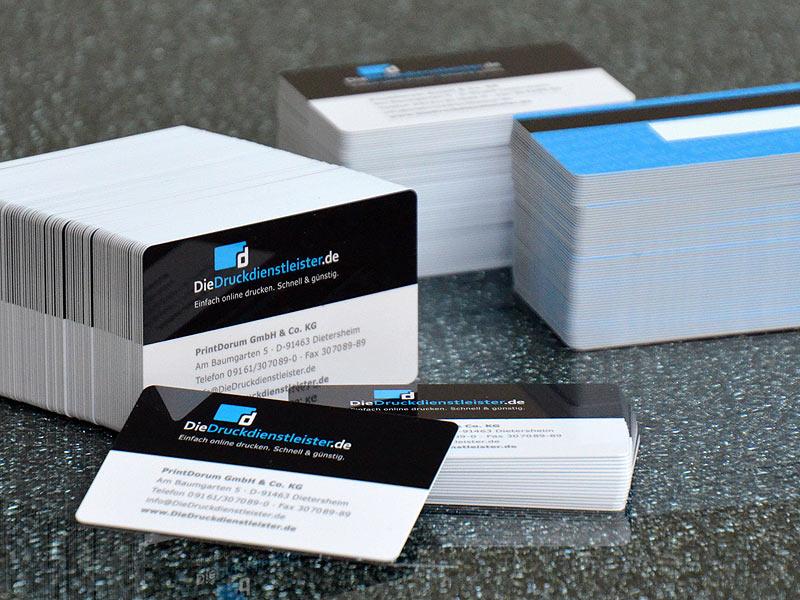5 Stk Pvc Karten Weiss Scheckkartenformat Business