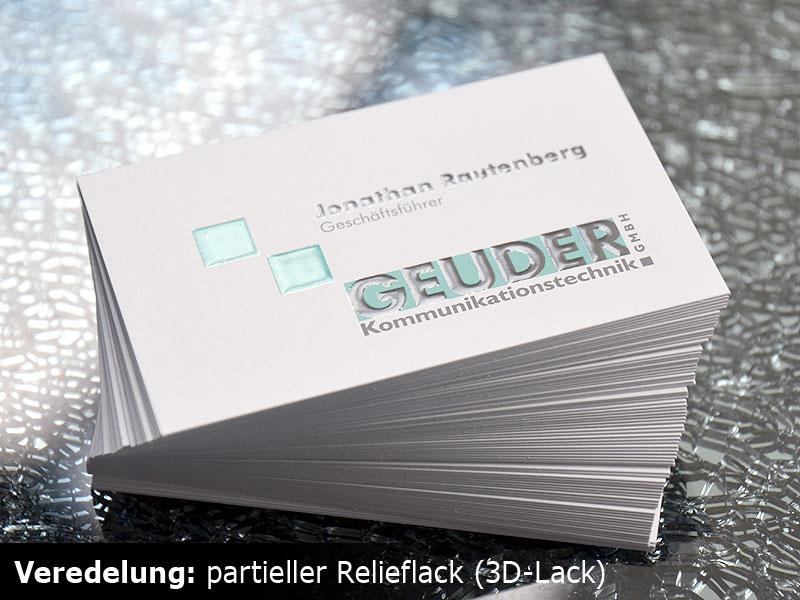 Visitenkarten Verschiedene Versionen Drucken Günstig Mit